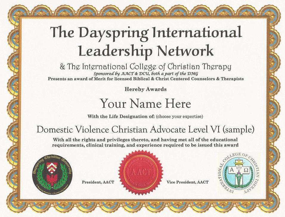 DCU & AACT Award Certification